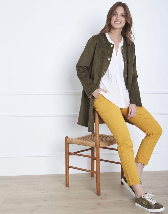 Pantalon jaune chino ceinture fantaisie Francis (2) - Maison 123