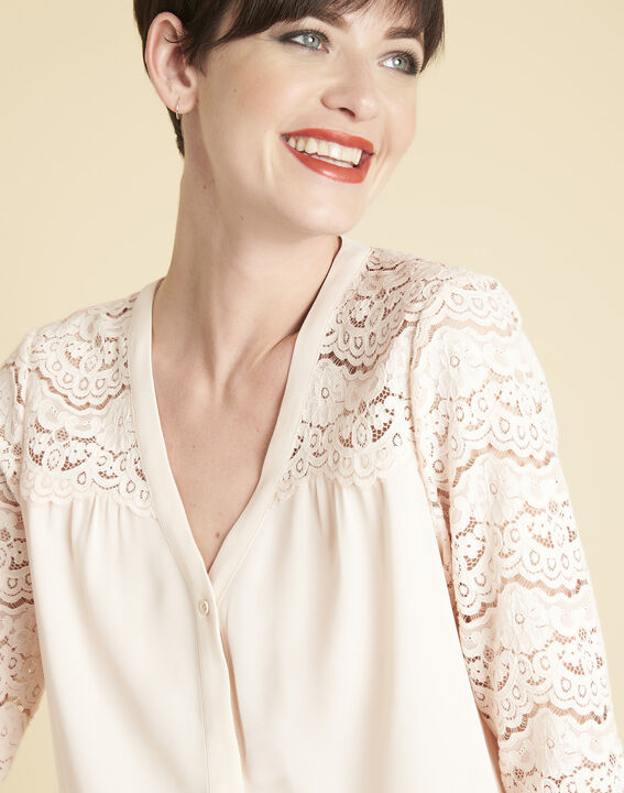 Colette nude blouse in lace (3) - Maison 123
