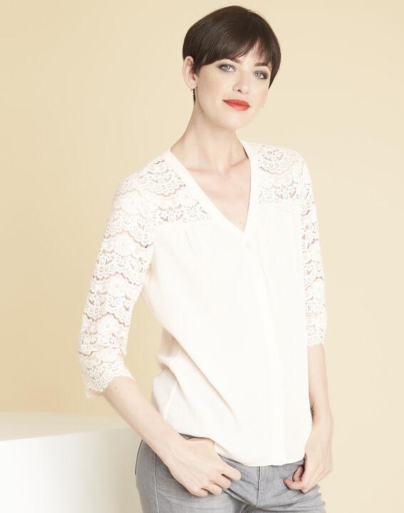 Nude blouse van kant Colette PhotoZ | 1-2-3