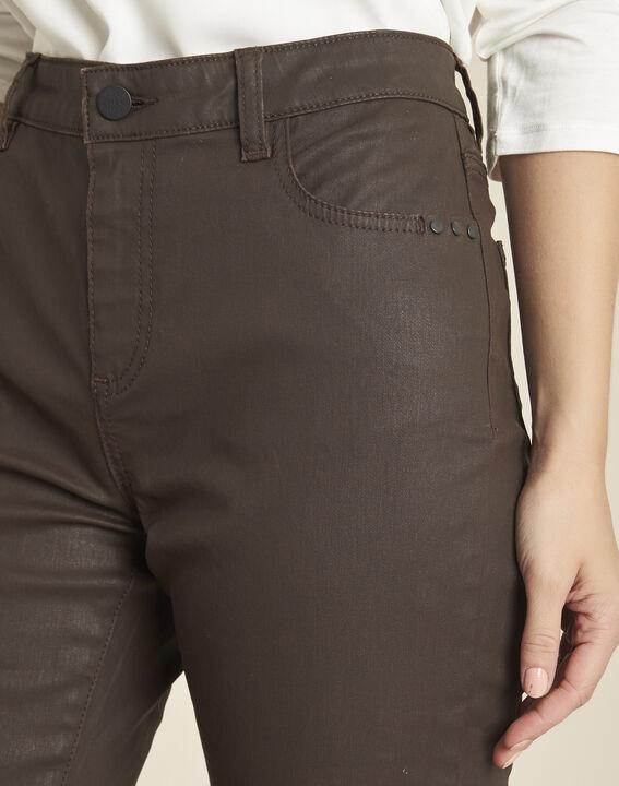 <br />Ebenholzfarbene beschichtete 7/8 Slim-Fit-Jeans Vendome (3) - 1-2-3