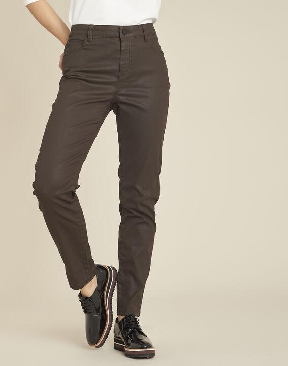 Vendôme 7/8 length ebony coated jeans (1) - 1-2-3