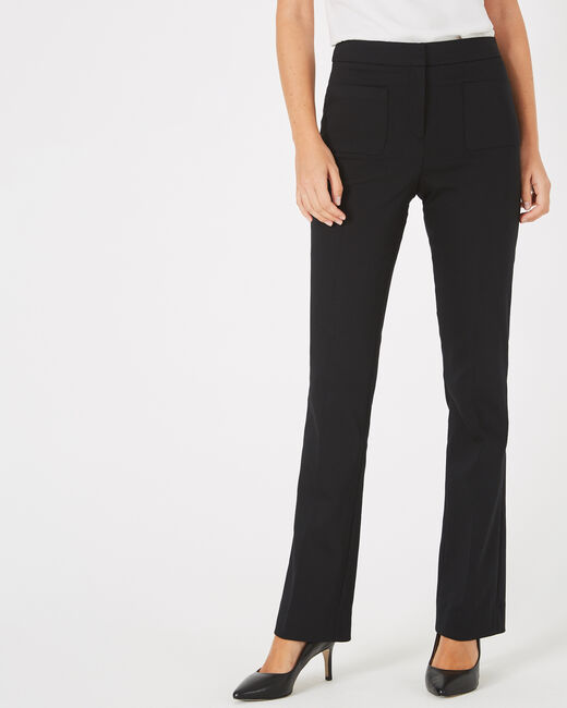 Vlad flared, tailored black trousers (2) - 1-2-3
