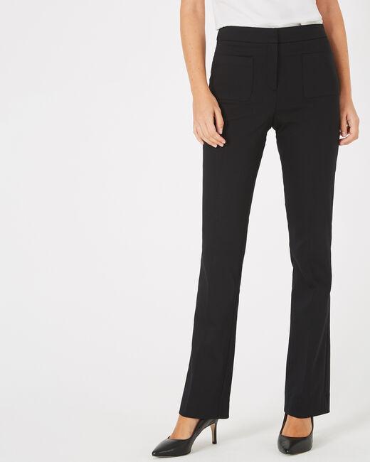 Pantalon de tailleur noir évasé Vlad (2) - 1-2-3