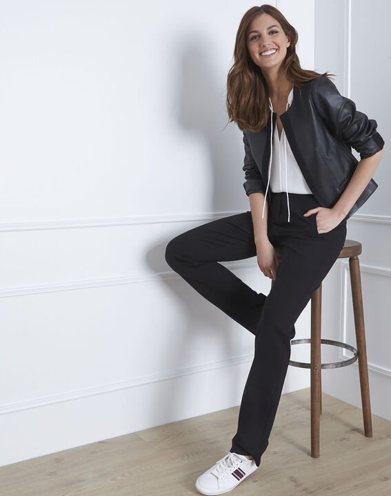 Veste noir cuir velours Charme (1) - Maison 123