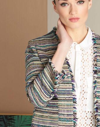 Veste en tweed et poches plaquées citrouille cypres.