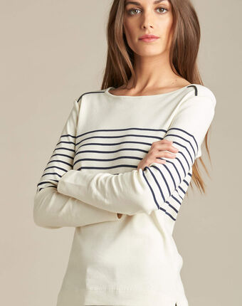 Escorteur striped t-shirt with long sleeves navy.