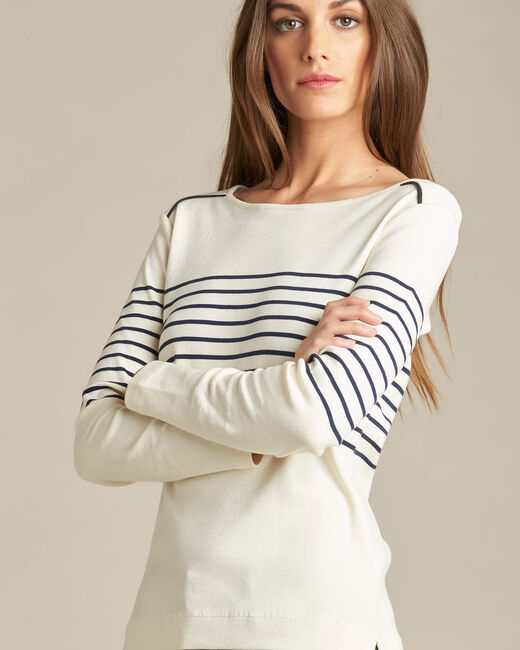 Gestreiftes Langarm-T-Shirt Escorteur (1) - 1-2-3