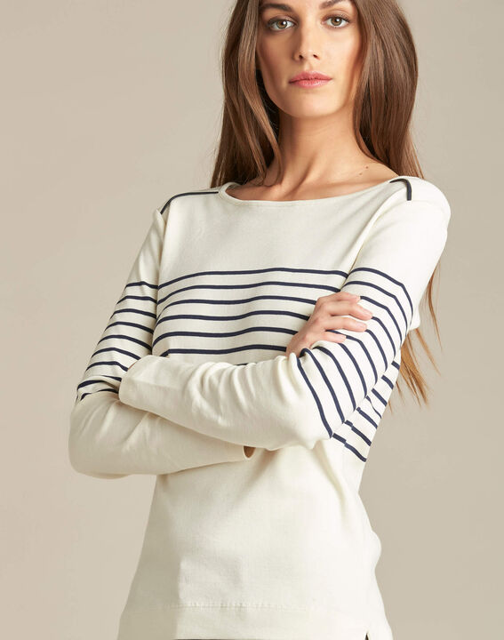 Escorteur striped T-shirt with long sleeves (1) - 1-2-3