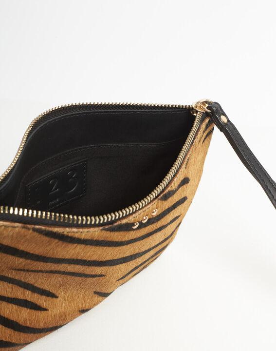 Droopy zebra print clutch with leather straps (4) - 1-2-3