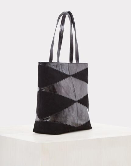 Sac noir bimatière Rafi (2) - 1-2-3