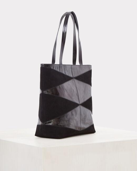 Sac noir bimatière Rafi (1) - 1-2-3