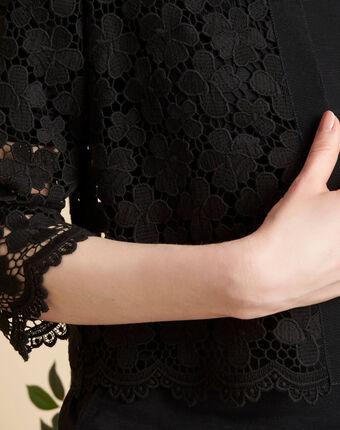 Cybil black bolero in guipure black.