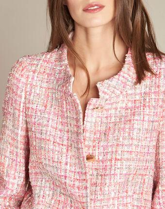 Veste rose pâle et boutons dorés cookie rose pale.