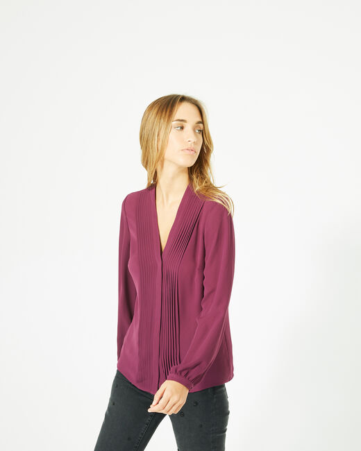 Doris blackcurrant blouse with long sleeves (1) - 1-2-3