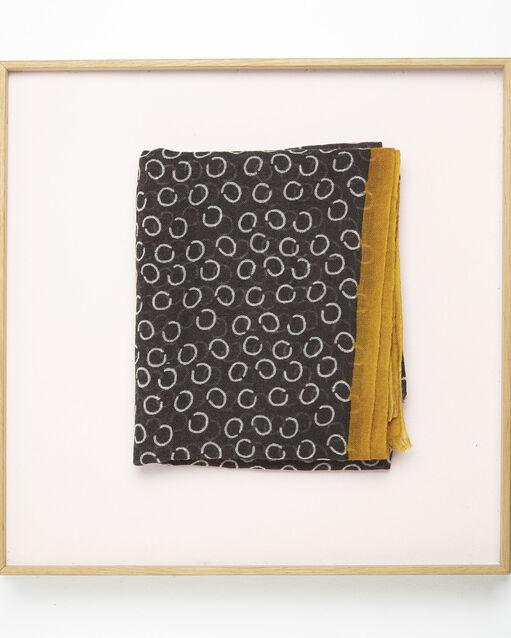... Foulard noir imprimé pois en laine Fabiene (2) - 1-2-3 ... f8aa2359e28