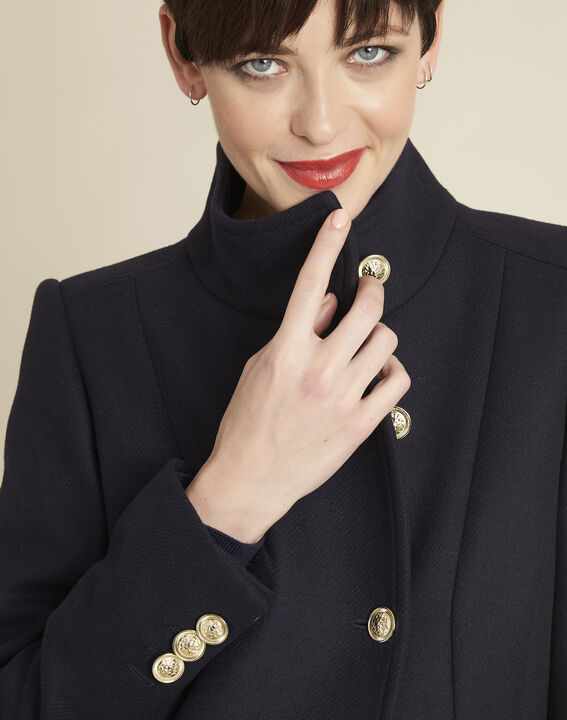 Jasmin double-breasted navy blue coat (3) - 1-2-3