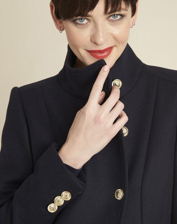 Jasmin double-breasted navy blue coat (3) - 1-2-3