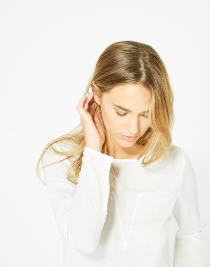 Pull blanc cassé cachemire mélangé Paloma (4) - 1-2-3