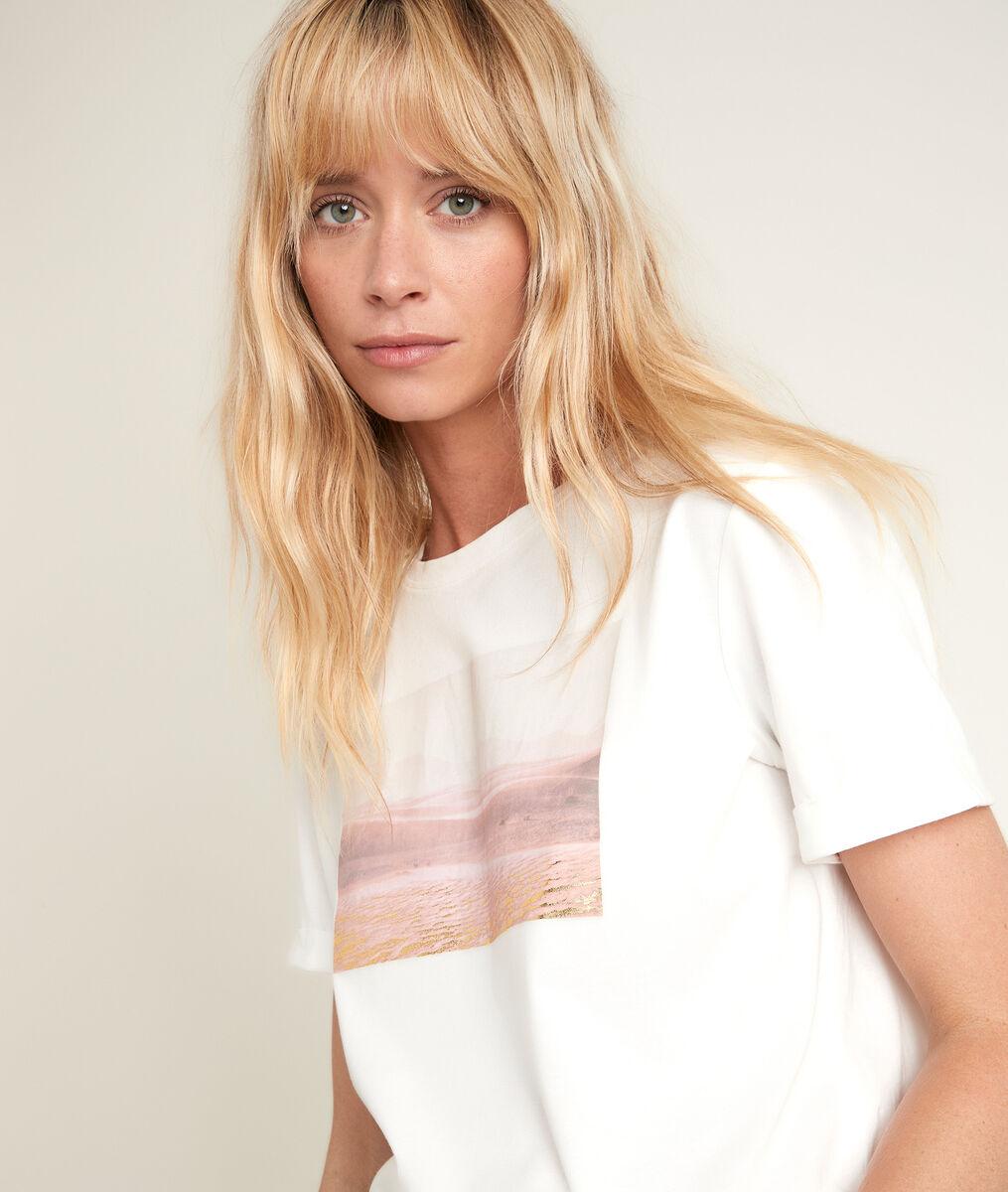 Tee-shirt en coton biologique imprimé Désert PhotoZ | 1-2-3