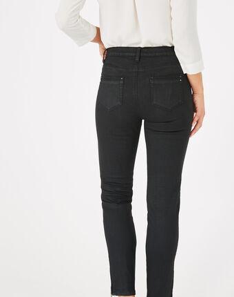 Pia black 7/8 length coated trousers black.