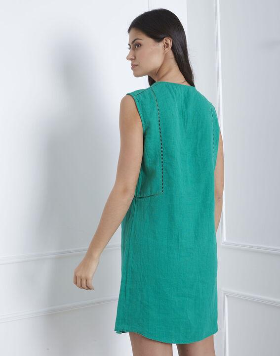 Robe verte encolure décorée Lolita (4) - Maison 123