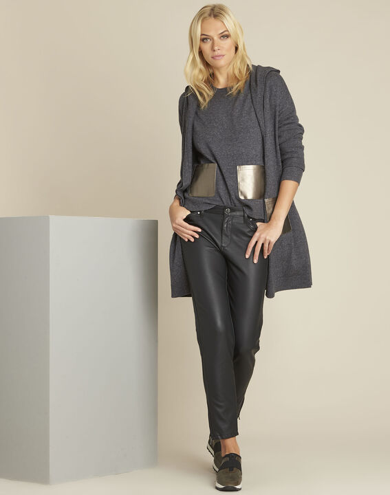 Banquise grey hooded wool cashmere cardigan (2) - 1-2-3