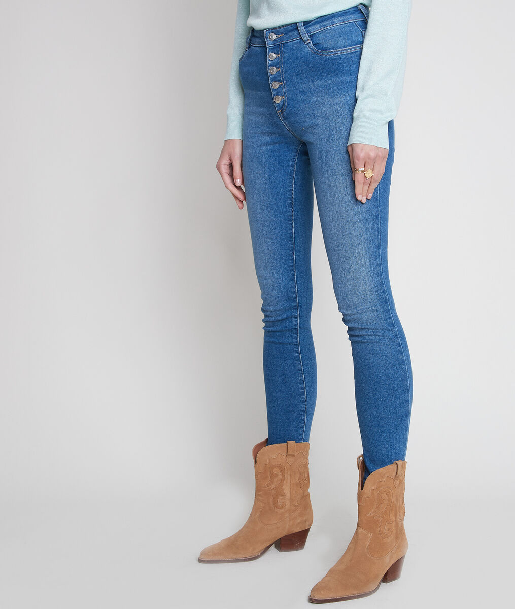 Jean slim en coton bio et recyclé bleu denim Nara PhotoZ | 1-2-3
