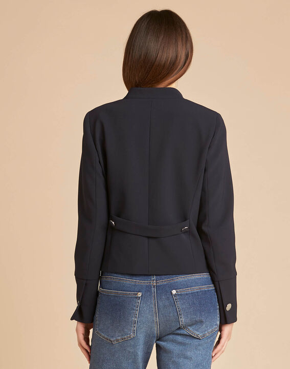 Citron navy blue collarless jacket (4) - 1-2-3