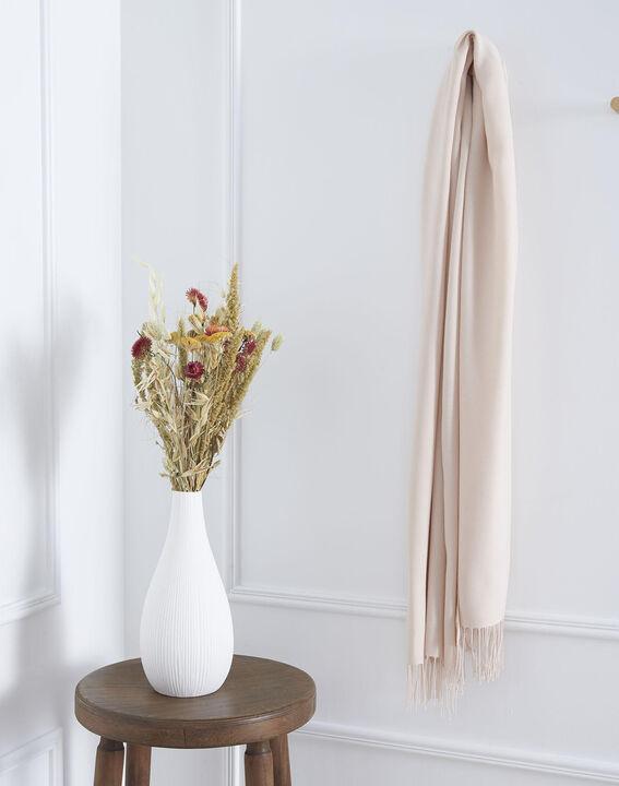 Beige foulard met franjes Fossette (1) - 37653