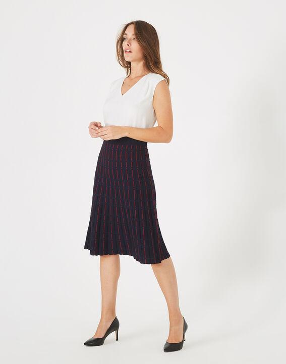 Fado navy blue knit dance skirt PhotoZ | 1-2-3