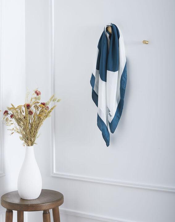 Carré de soie vert imprimé floral Ollie (1) - Maison 123