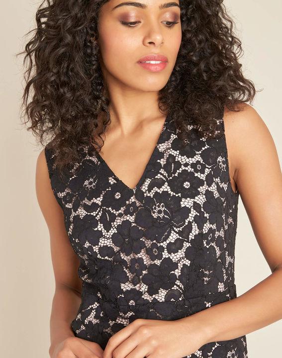 Istory black straight-cut lace dress (2) - 1-2-3