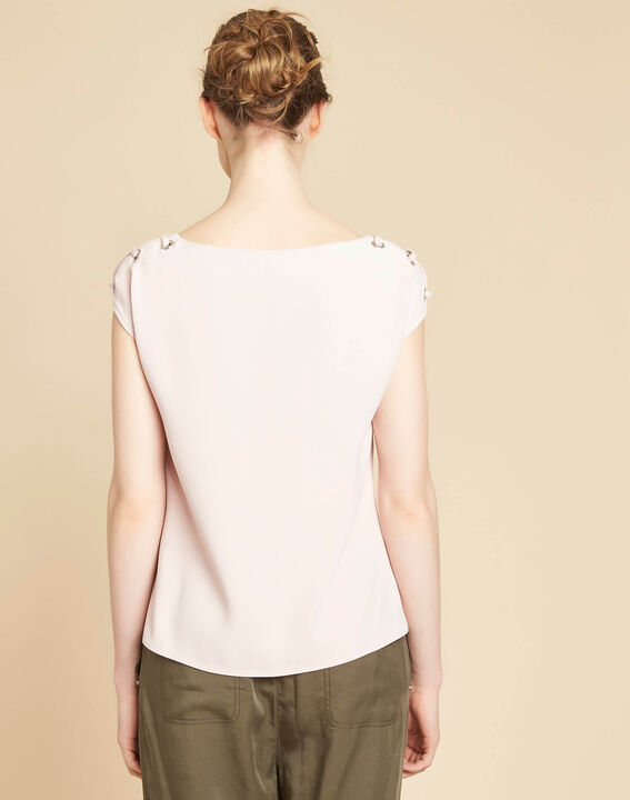 Germina pale pink blouse with eyelets and laces (4) - 1-2-3