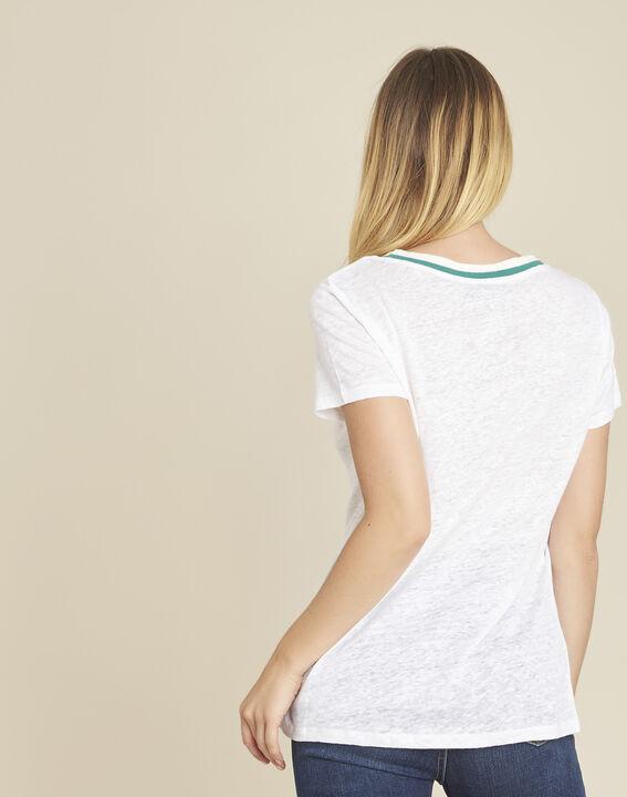 Tee-shirt en lin blanc Elu (4) - 1-2-3