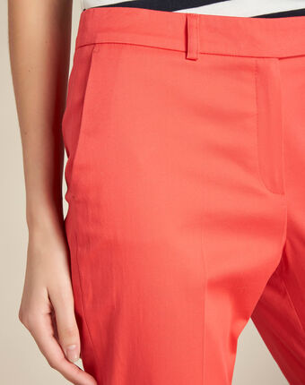 Rubis coral 7/8 length trousers coral.