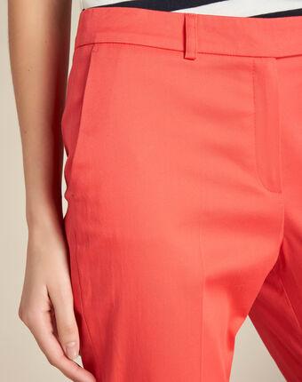 Pantalon corail 7/8ème rubis corail.