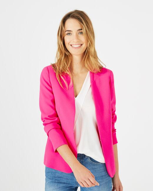 Clara neon pink crêpe jacket (2) - 1-2-3