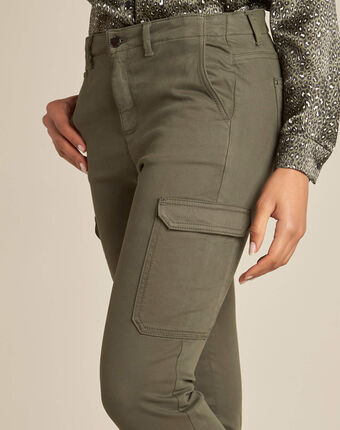 Damien 7/8 length khaki safari trousers kaki.