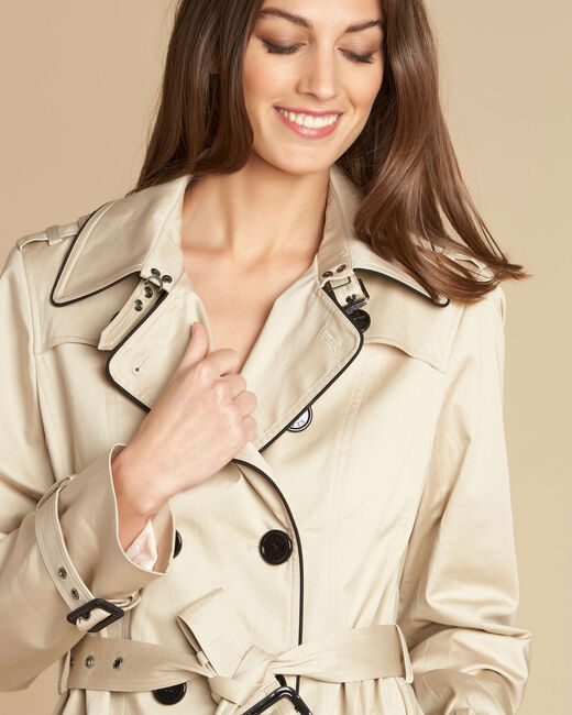 Kate beige braided trench coat (1) - 1-2-3