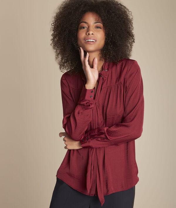 Rood overhemd met sluiting met oogjes en sjaaltje Maud PhotoZ | 1-2-3