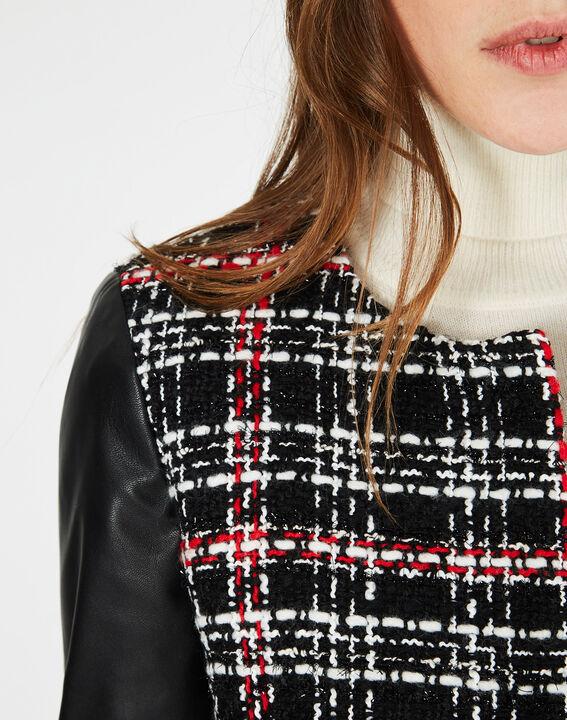 Veste noir & blanc à carreaux Danae (4) - 1-2-3