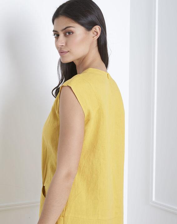 Robe jaune oeillets et lacets Lucky (4) - Maison 123