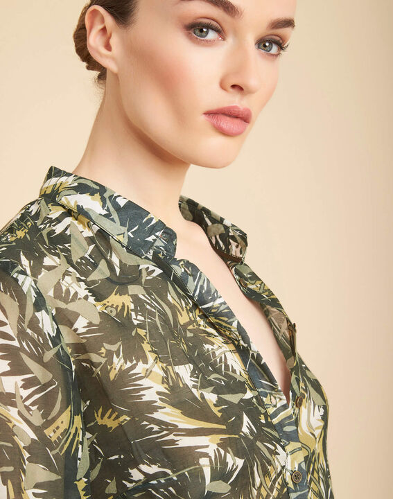 Ravel camouflage printed blouse (1) - 1-2-3