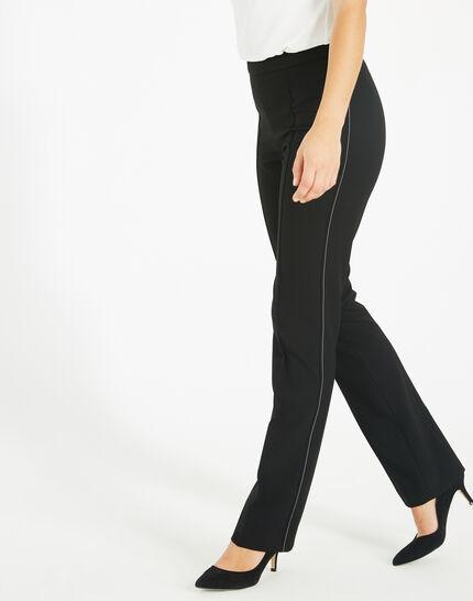 Pantalon de tailleur noir Vilona (3) - 1-2-3