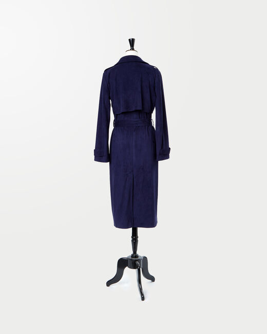 Jade royal blue long trench coat (2) - 1-2-3