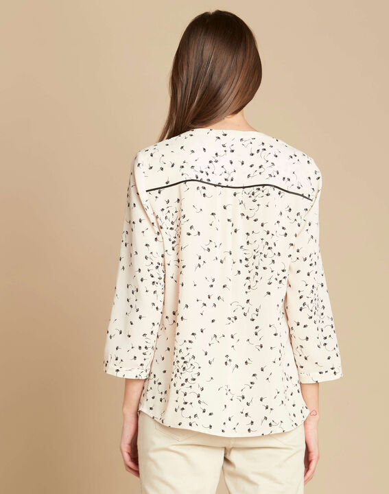 Arletty ecru blouse with gingko print (4) - 1-2-3