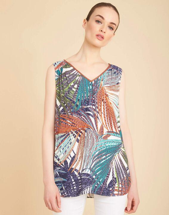 Galaxie palm printed multi-coloured top (4) - 1-2-3