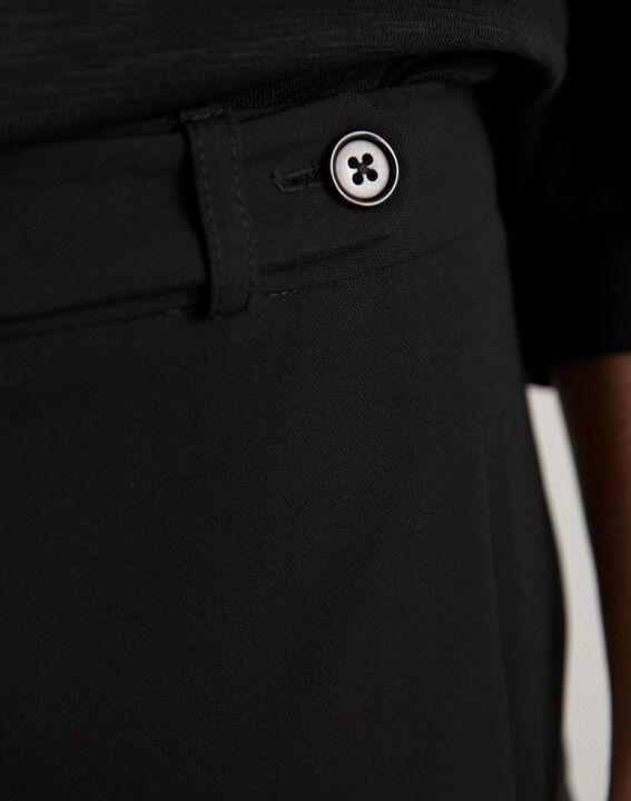 Pantalon de tailleur noir slim Lara (3) - 1-2-3