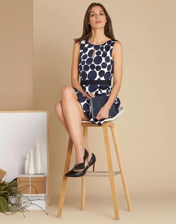 Isis blue polka dot printed dress (2) - 1-2-3