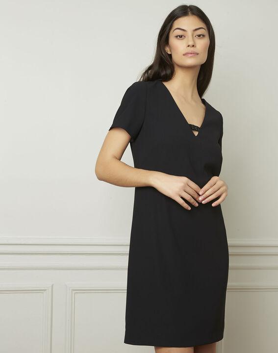 Zwarte jurk met sieraad Noel PhotoZ | 1-2-3